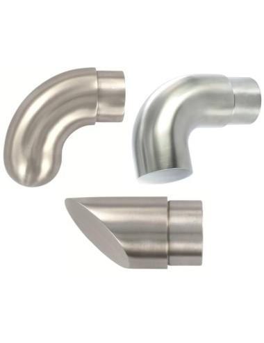 Raccordo terminale per corrimano tondo in acciaio inox